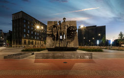 Monument aux scouts de garçon septembre dans Katowice images libres de droits