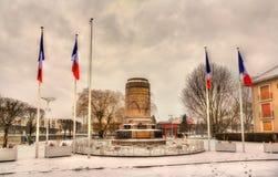 Monument aux soldats français Saint-Matrice-DES-VOSGES - en Lorraine, image stock