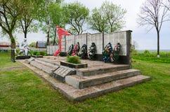 Monument aux soldats qui ont péri dans la grande guerre patriotique, Belaru Image libre de droits