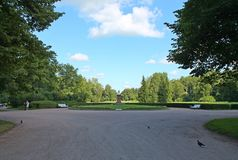 Monument aux victimes de la révolution Parc de Pavlovsky La ville de Pavlovsk images stock