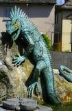 Monument av ödlan Arkivfoton