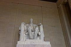 Monument av Abraham Lincoln i Washington DC USA Arkivfoton