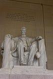 Monument av Abraham Lincoln i Washington DC USA Royaltyfria Foton