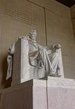 Monument av Abraham Lincoln i Washington DCFörenta staterna Arkivbilder