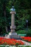 Monument av Alexander Pushkin, Chisinau, Moldavien Arkivbild
