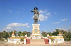 Monument av Anouvong Arkivfoton