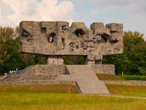 Monument av ansträngning och martyrskap i Majdanek Royaltyfri Foto
