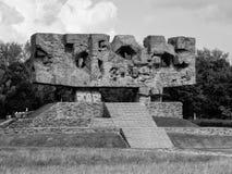 Monument av ansträngning och martyrskap i Majdanek Arkivbild