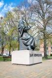 Monument av astronomen Johannes Hevelius Royaltyfri Fotografi