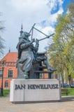 Monument av astronomen Johannes Hevelius Royaltyfri Foto