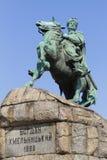 Monument av Bogdan Khmelnytsky i Kiev Arkivfoton