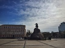 Monument av Bohdan Khmelnitsky Royaltyfria Foton