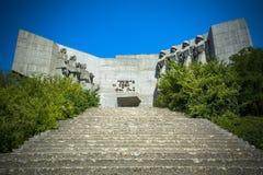Monument av Bulgar-sovjet kamratskap i Varna Royaltyfria Foton