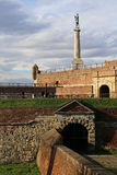 Monument av den Belgrade vinnaren, Kalemegdan fortess i Belgrade Royaltyfria Foton