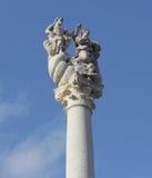 Monument av den heliga trinityen, Ljubljana, Slovenien Arkivfoto