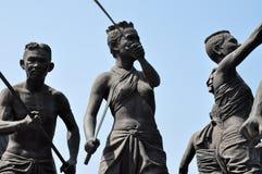 Monument av den infödda krighändelsen i Thailand historia Royaltyfri Fotografi