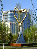 Monument av den original- designen i Astana Arkivbild