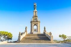Monument av den Sant Salvador Arkivfoton