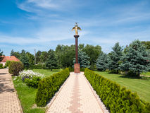 Monument av den snälla ängeln av fred arkivfoto