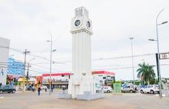 Monument av en klocka som namnges Relogio central Royaltyfria Foton
