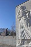 Monument av en kvinna Arkivbilder