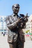 Monument av Federico Garcia Lorca i Madrid, Spanien arkivbild