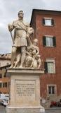 Monument av Ferninando del Medici i Pisa, Italien Royaltyfri Foto