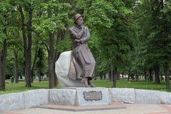 Monument av Francisak Bahusevic i Smorgon, Vitryssland Arkivbild