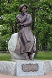 Monument av Francisak Bahusevic i Smorgon, Vitryssland Royaltyfri Fotografi