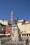 Monument av Giuseppe Tartini Arkivfoto