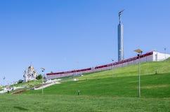 Monument av härlighet med baner`-samaraen i leken! FIFA världscup 2018 i Ryssland `, Royaltyfria Foton