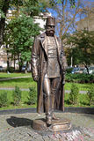Monument av kejsaren Franz Joseph I i Chernivtsi Arkivbilder