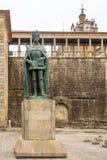 Monument av konungen Dom Duarte i Viseu - Portugal Royaltyfria Bilder