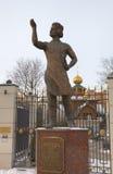 Monument av Levsha (lefthanderen), rysk folk hantverkare, hjälte av berättelsen av Nikolai Leskov. Royaltyfri Foto