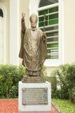 Monument av påven John Paul II i Singapore Arkivbilder