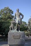 Monument av Peter det stort i Azov Arkivfoto