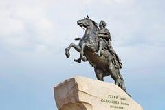 Monument av Peter första, St Petersburg Arkivbilder