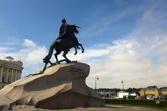 Monument av Peter Great Arkivbild