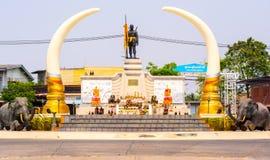 Monument av Phraya Surin Phakdi, Surin, Thailand Arkivbilder