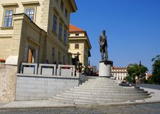Monument av Tomas Garrique Masaryk, den första presidenten av Tjeckoslovakien royaltyfria bilder