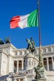 Monument av Vittorio Emanuele II i Rome Royaltyfria Bilder