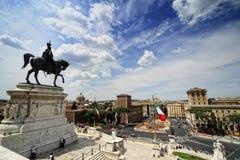 Monument av Vittorio Emanuelle II arkivfoton