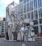 Monument avec la bête debout Image libre de droits
