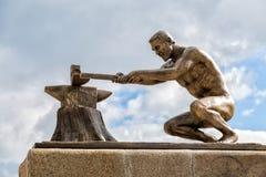 Monument banbrytande Chernozemya Panino Ryssland Arkivfoto