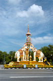 Monument in Bangkok. Elephant monument in Bangkok, Thailand royalty free stock image