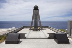 Monument in Banzai Cliff, Saipan royalty-vrije stock foto's