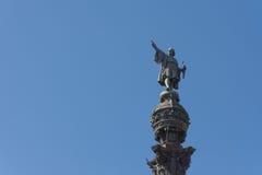 Monument Barcelonas Columbus Stockfotografie