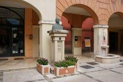 Monument Bartolomeo Borghesi dans le sul Rubicone de Savignano Sul Rubicone, Forlì-Cesena, Émilie-Romagne, Italie de Savignano image libre de droits