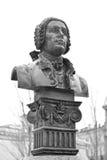 Monument Bartolomeo Francesco Rastrelli. Stock Image
