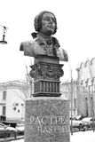 Monument Bartolomeo Francesco Rastrelli. Stock Images